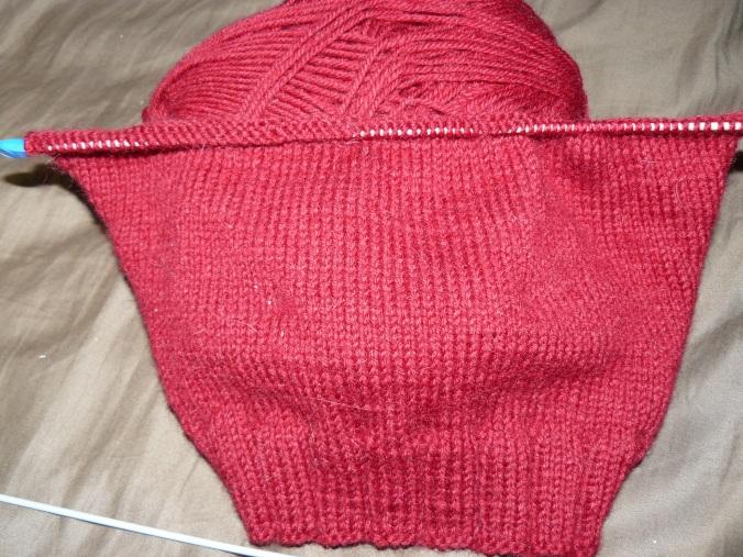Punainen neulostyö